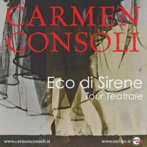 CARMEN CONSOLI MOLTIPLICANO LE DATE DEL TOUR ECO DI SIRENE